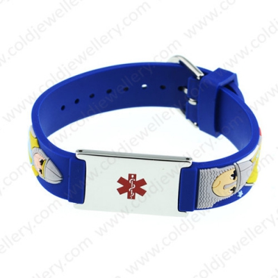3D Kids Silicone Medical Bracelets-Cold Jewellery Co , Ltd
